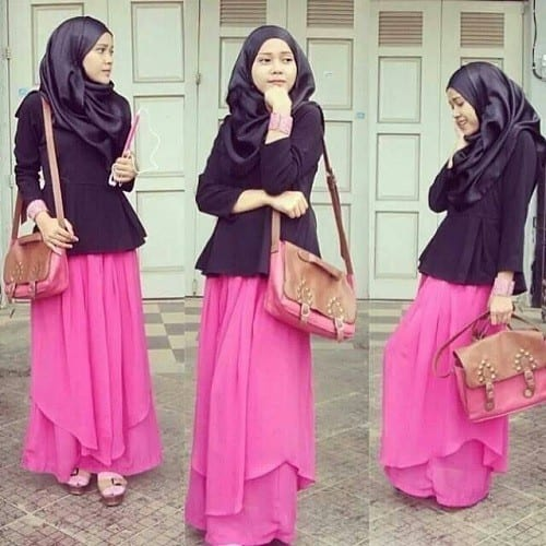 modest-dresses-for-muslim-girls Hijab Skirt outfits-24 Modest Ways to Wear Hijab with Skirts