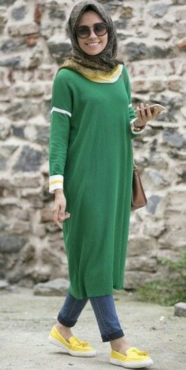 How to style abaya with jeans? (3)