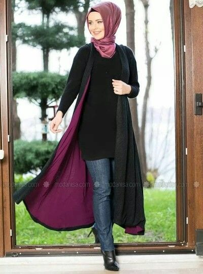 How to style abaya with jeans? (6)