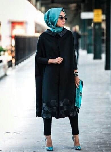 How to style abaya with jeans? (2)