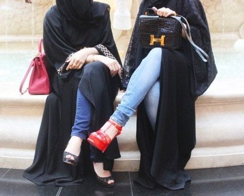How to style abaya with jeans? (8)