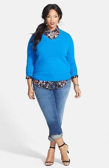 outfits with boyfriend jeans for plus size women (13)