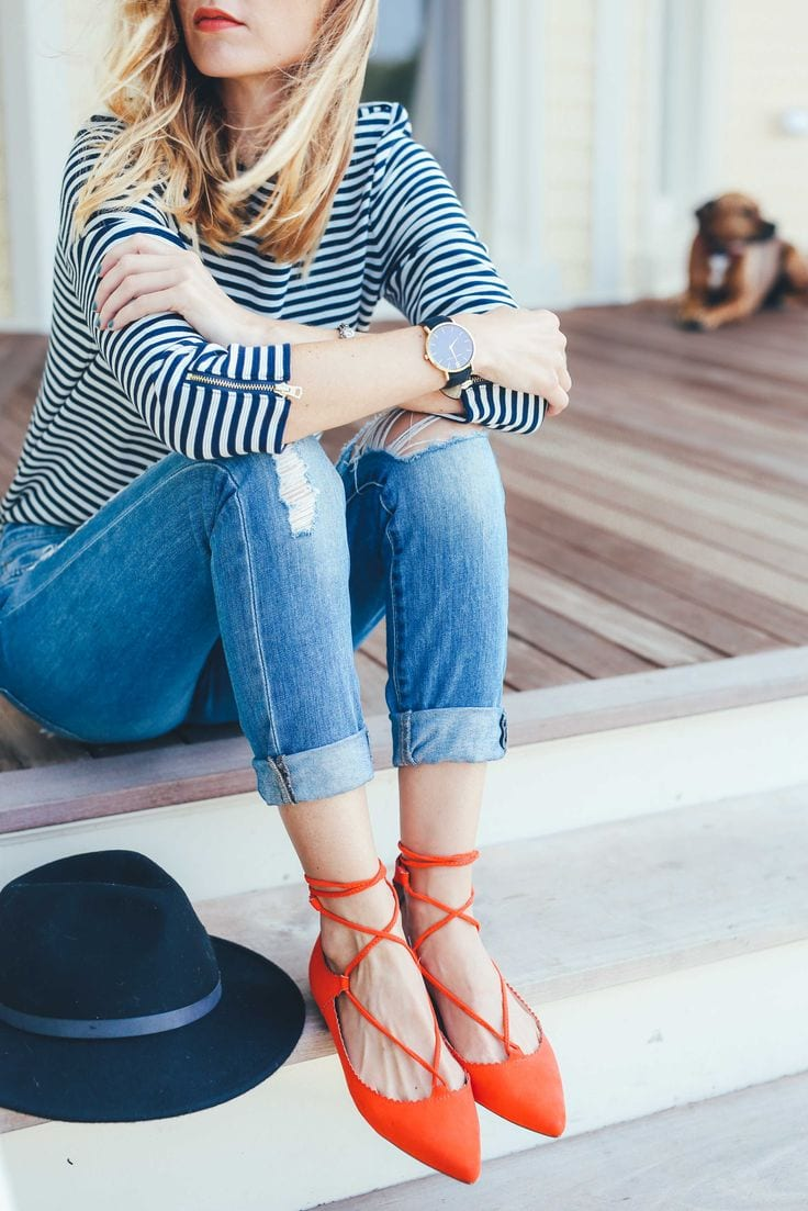 pointy-flats 25 Best Shoes to Wear with Jeans for Different Looks