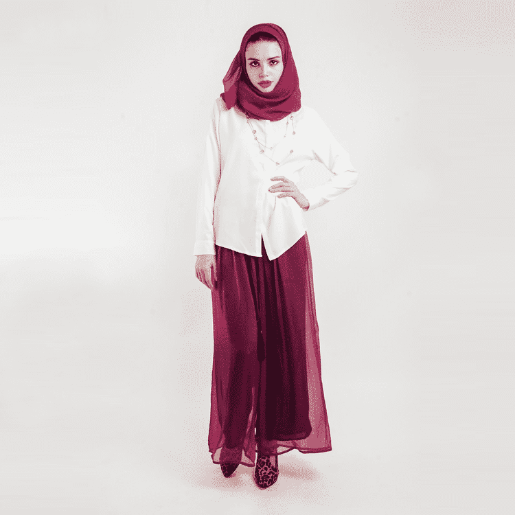 How to wear hijab with palazzo pants? (2)