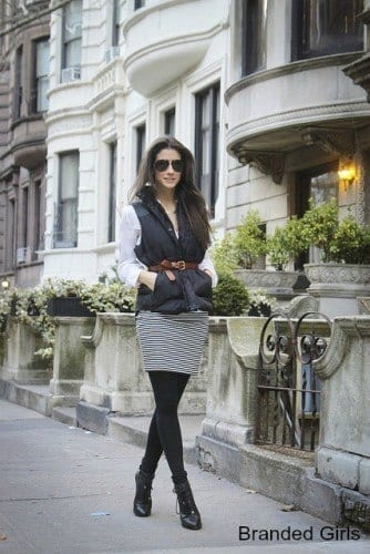 a-334x500 Outfits with Puffer Vest-20 Ways to Wear Puffer Vest Fashionably