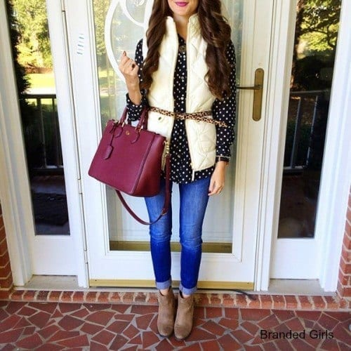 Simple outfits to wear with puffy vests (2)