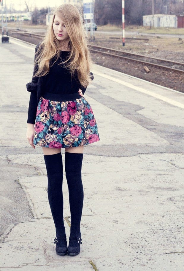 KHS12 Knee High Socks Outfits-23 Cute Ways to wear Knee High Socks