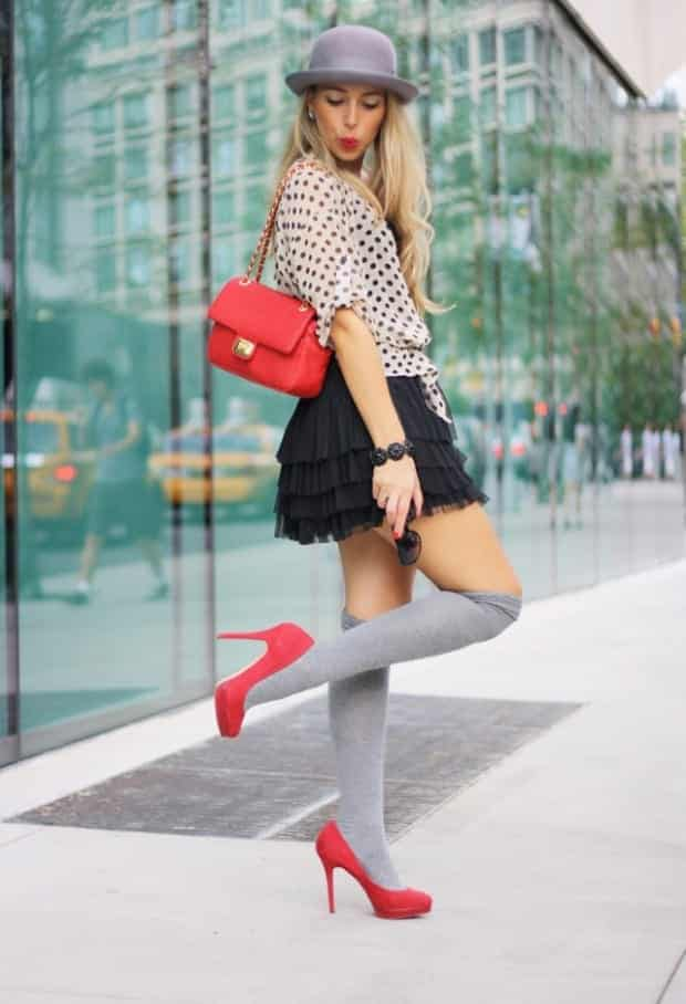 KHS13 Knee High Socks Outfits-23 Cute Ways to wear Knee High Socks