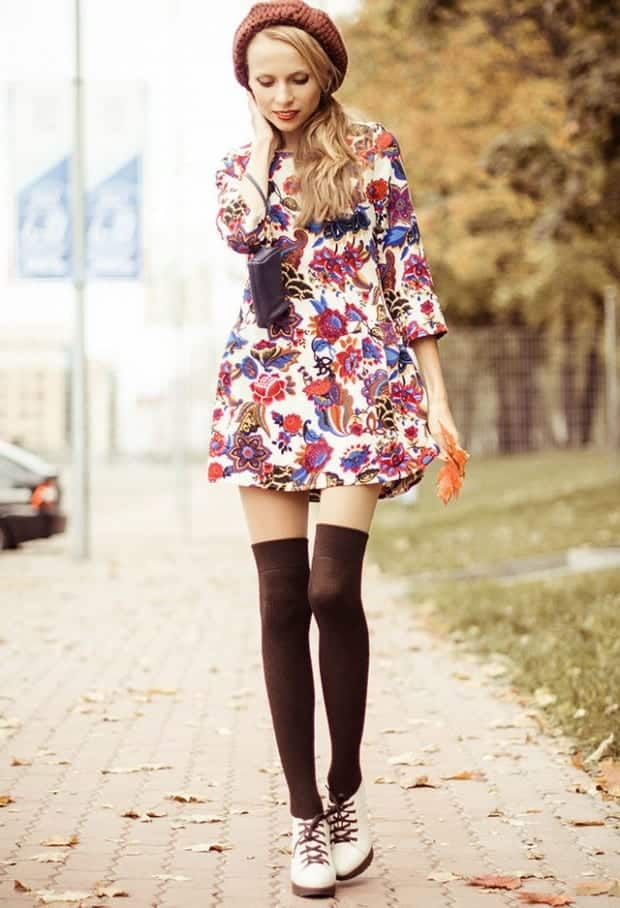 KHS31 Knee High Socks Outfits-23 Cute Ways to wear Knee High Socks