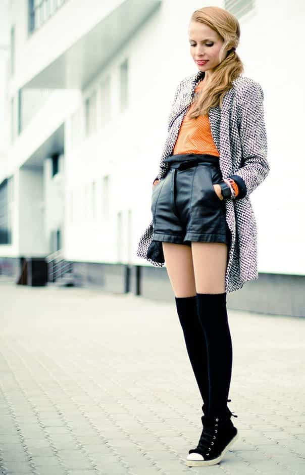 KHS4 Knee High Socks Outfits-23 Cute Ways to wear Knee High Socks