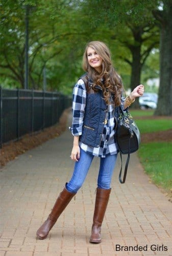 Simple outfits to wear with puffy vests (10)