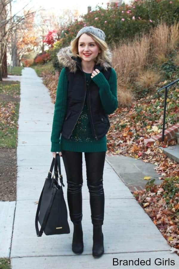 Outfits with Puffer Vest-20 Ways to Wear Puffer Vest Fashionably