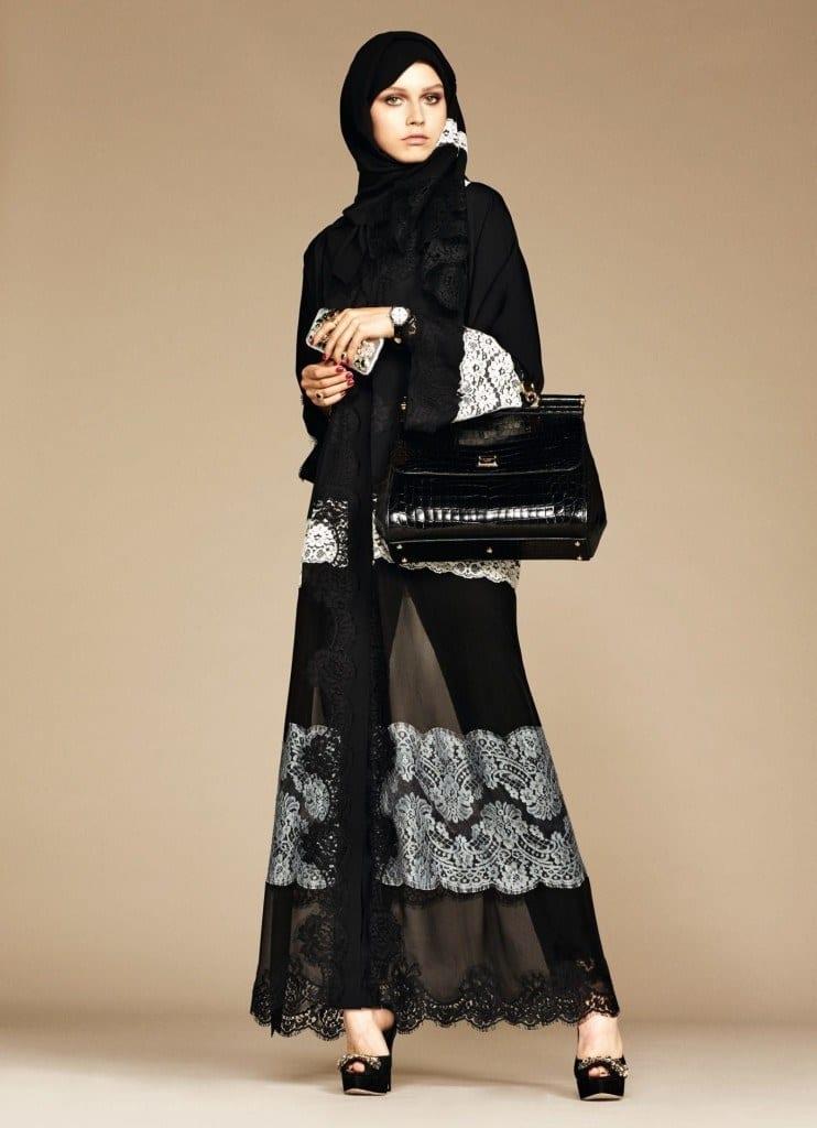 10-exclusive-dolce-gabbana-abaya-line-742x1024 Dolce & Gabbana Hijab and Abaya Collection 2016-Branded Girls