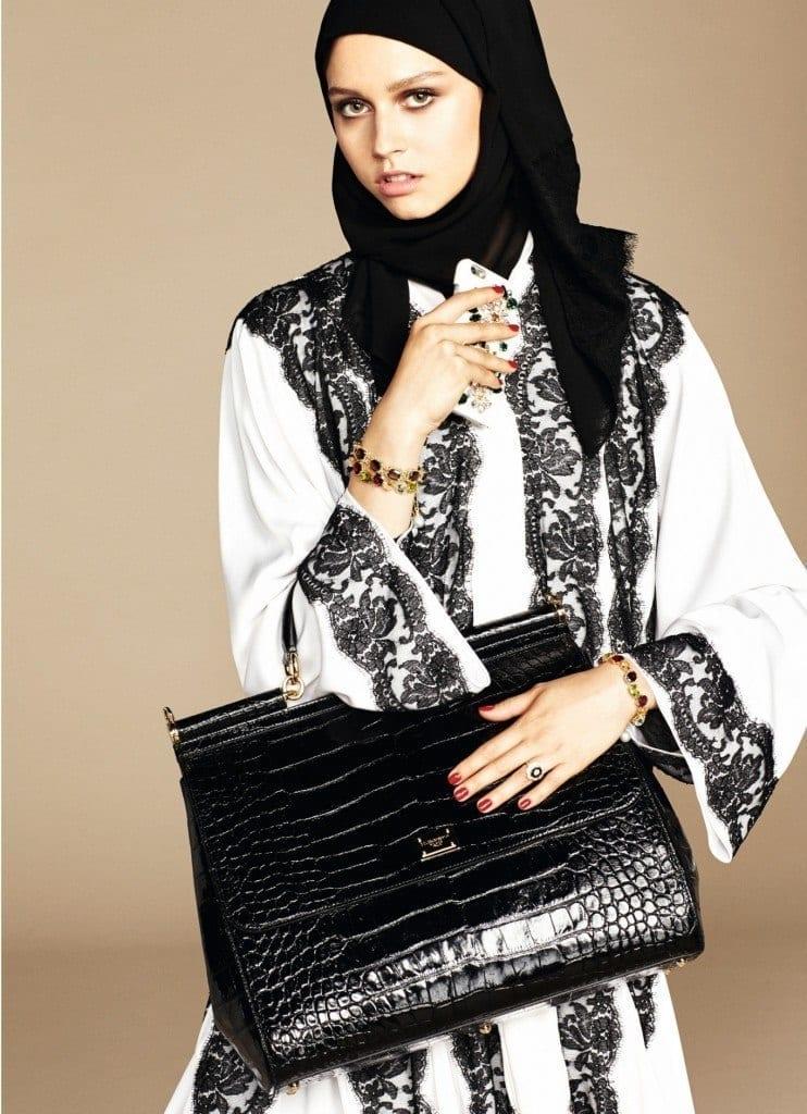 17-exclusive-dolce-gabbana-abaya-line-1-742x1024 Dolce & Gabbana Hijab and Abaya Collection 2016-Branded Girls