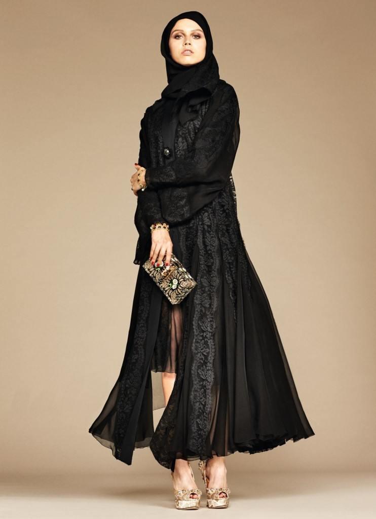 18-exclusive-dolce-gabbana-abaya-line-1-742x1024 Dolce & Gabbana Hijab and Abaya Collection 2016-Branded Girls