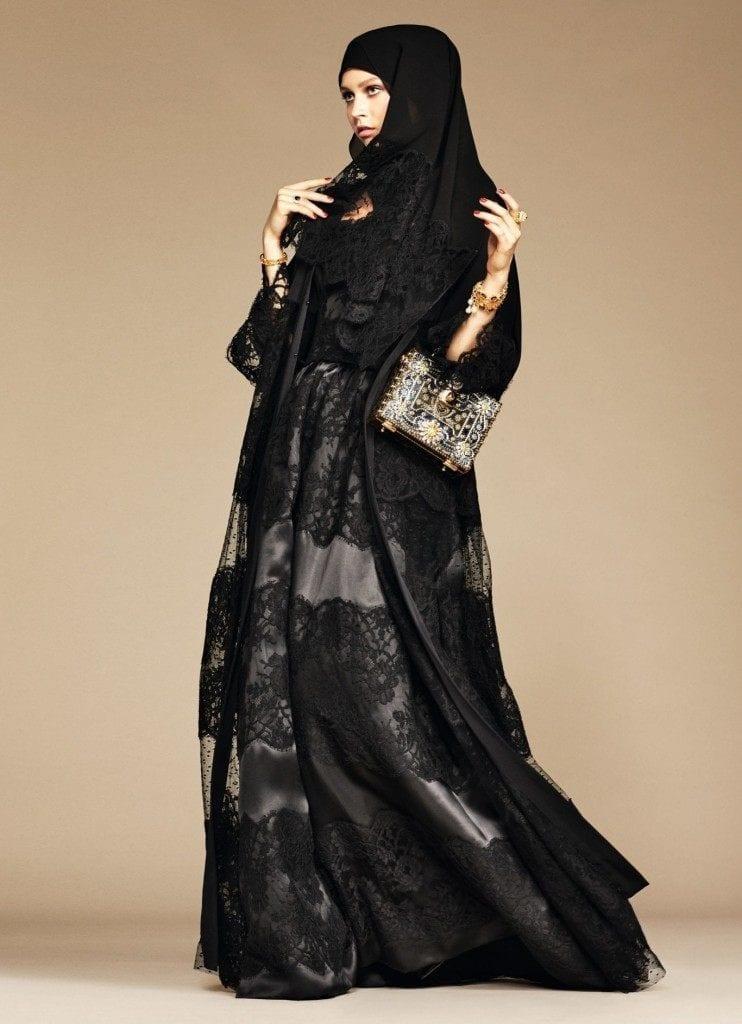 19-exclusive-dolce-gabbana-abaya-line-1-742x1024 Dolce & Gabbana Hijab and Abaya Collection 2016-Branded Girls