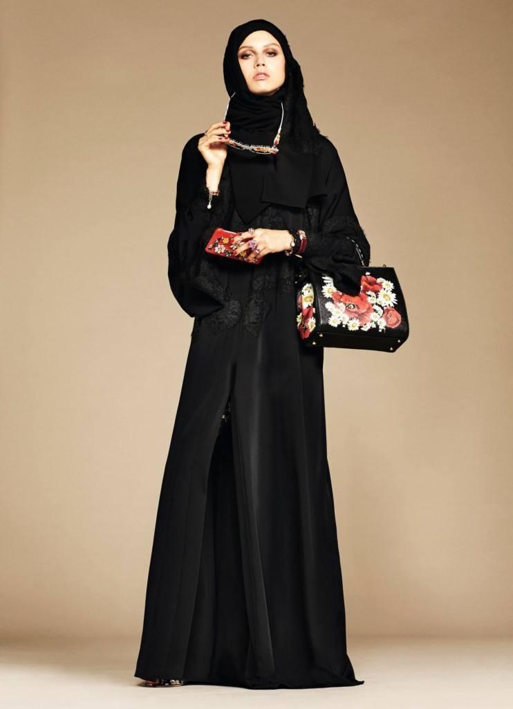 3-exclusive-dolce-gabbana-abaya-line-742x1024 Dolce & Gabbana Hijab and Abaya Collection 2016-Branded Girls
