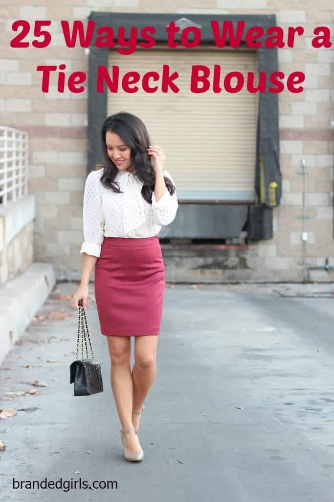Wear Tie-Neck Blouses in style