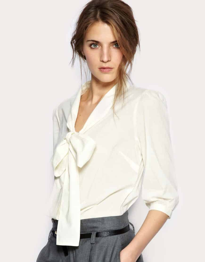 Tie-Neck-Blouses2 Tie Neck Blouse Outfit Ideas-25 Ways to Wear Tie Neck Blouse
