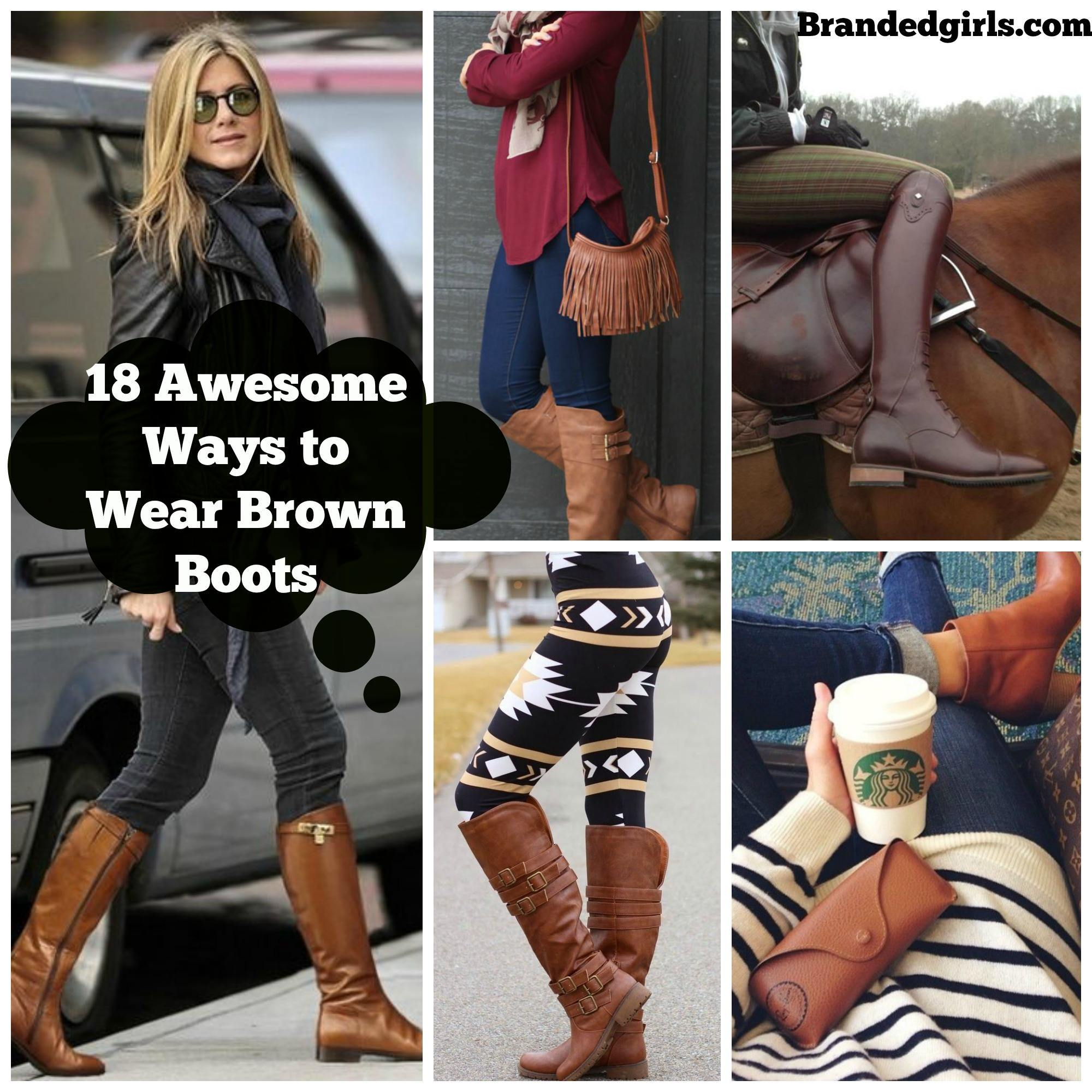 brown boots outfits