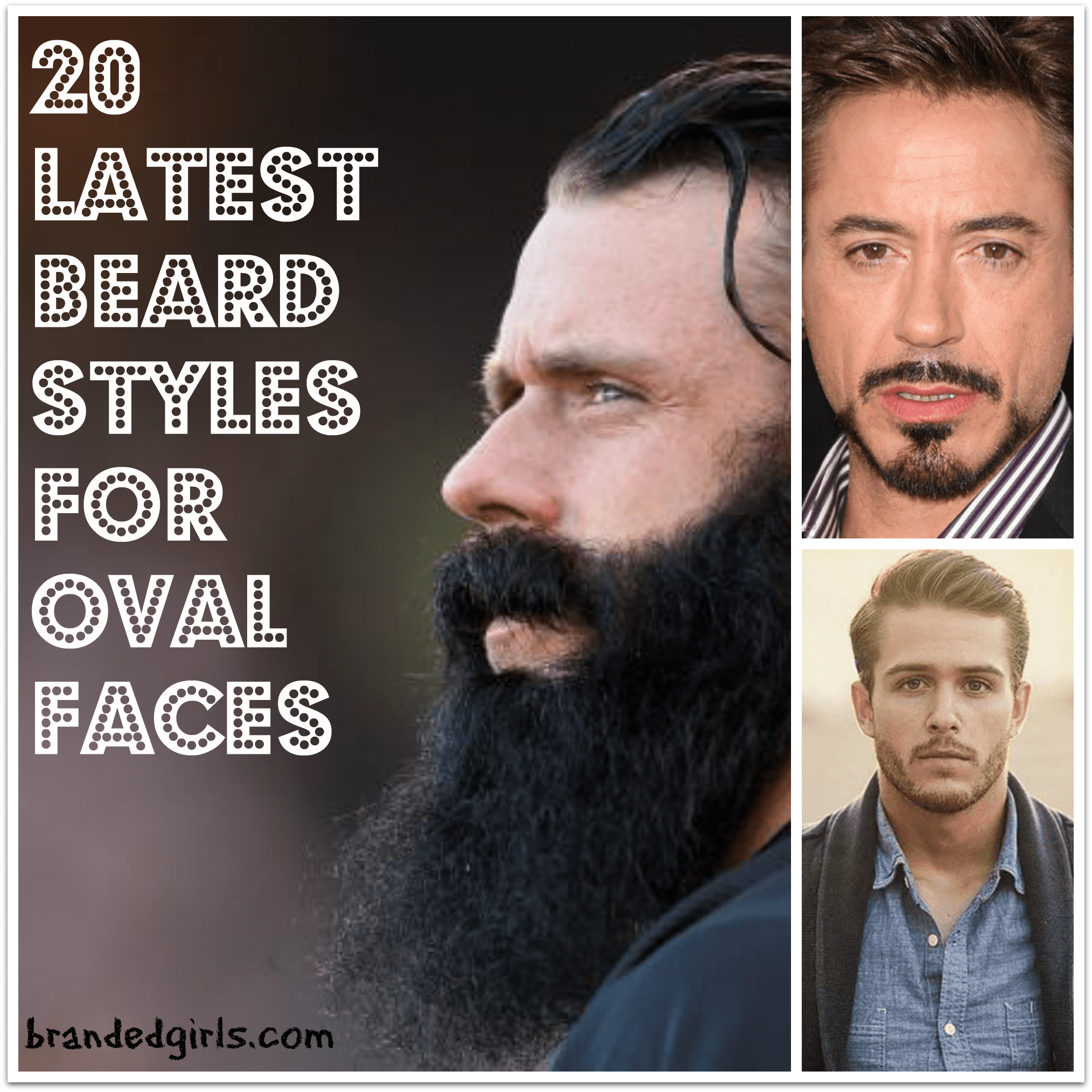 oval face men beard