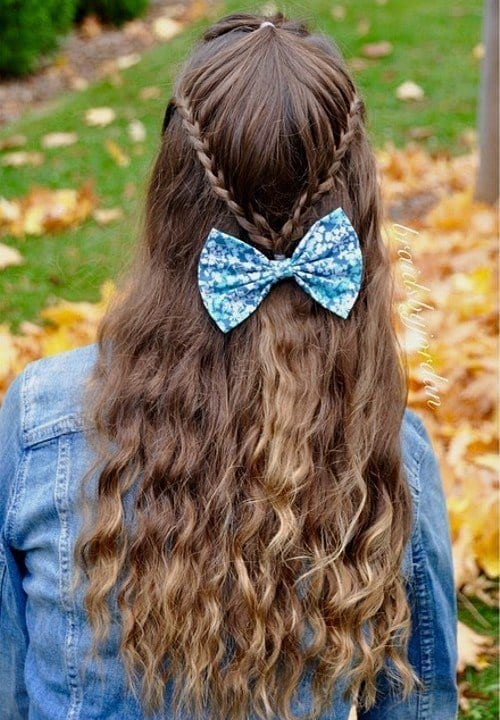 1-long-half-up-hairstyle-for-teenage-girls Easy and Quick Hairstyles–Top 10 Super Fast Hairstyles to Do