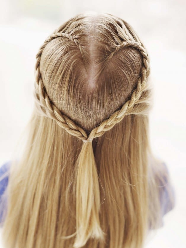 #10 - Heart Braided Stunning Hairdo for Round-faced Ladies