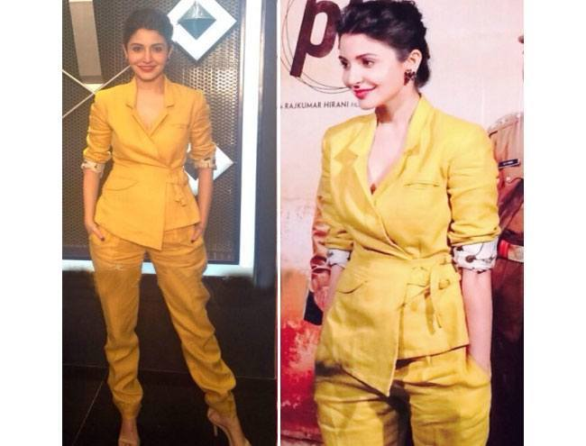 11-Anushka-Sharma-in-a-Chic-Sneha-Arora-Suite Anushka Sharma Outfits-32 Best Dressing Styles of Anushka Sharma