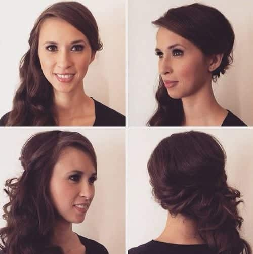 11-side-curly-downdo-with-soft-layers 28 Cute Hairstyles for Oval Face Shape Girls These Days