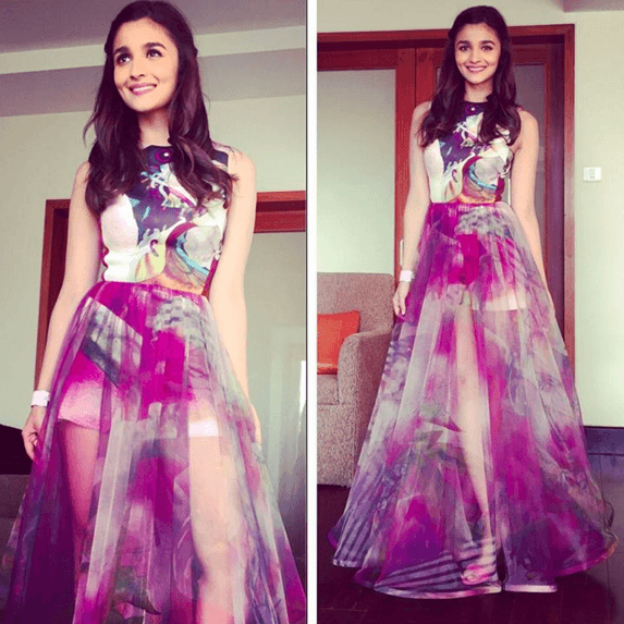 13-Blissful-Colored-Outfit Alia Bhatt Outfits-32 Best Dressing Styles of Alia Bhatt