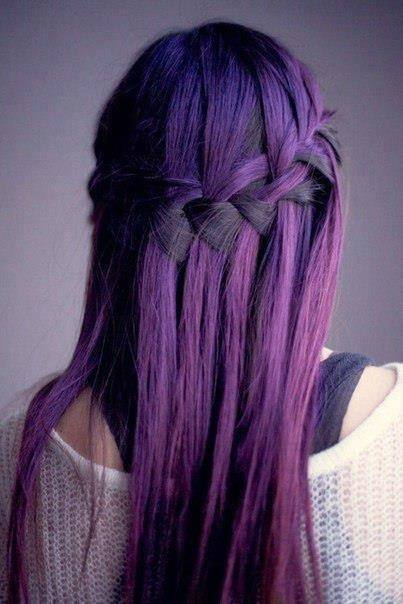 14-Cool-Purple-Dyed-Hair Hairstyles For Round Face-36 Cute Hairstyles for This Year