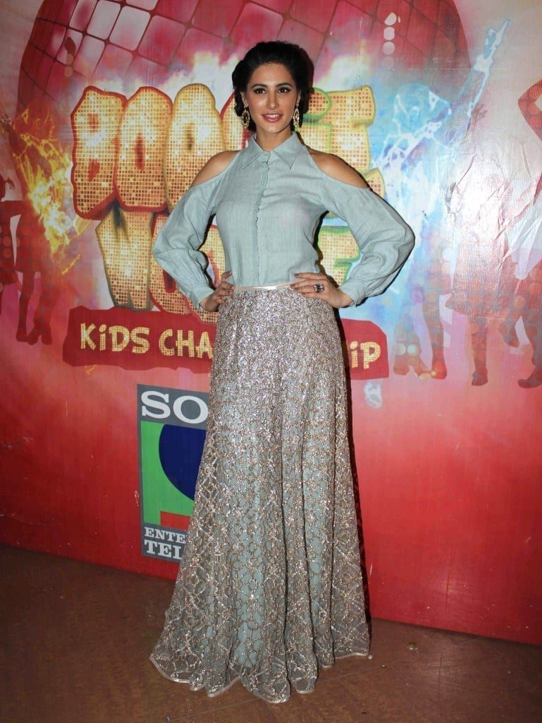 #15 - Nargis Fakhri in a Classy, Silvery Gown