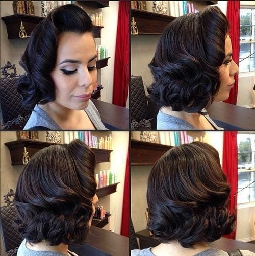 17-shoulder-length-vintage-lob 28 Cute Hairstyles for Oval Face Shape Girls These Days