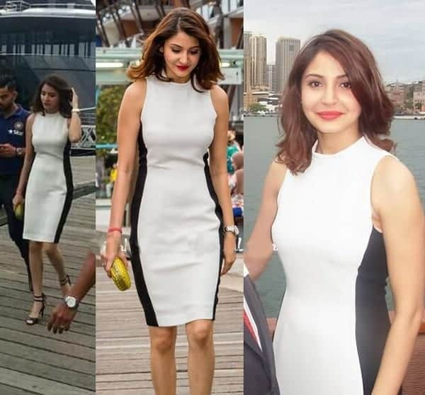 19-Anushka-Sharma-in-a-Sleek-Sydney-White-Dress Anushka Sharma Outfits-32 Best Dressing Styles of Anushka Sharma
