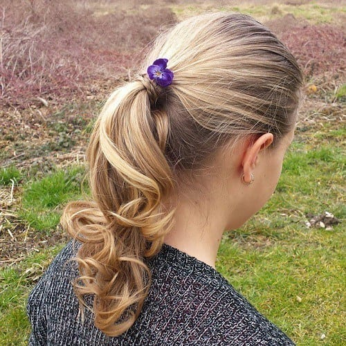 19-cute-ponytail-hairstyle-for-girls Easy and Quick Hairstyles–Top 10 Super Fast Hairstyles to Do