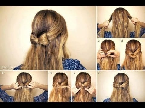 21-The-Stunning-Bow-Hairstyles-of-Round-faced-Ladies Hairstyles For Round Face-36 Cute Hairstyles for This Year