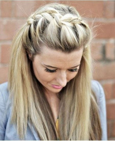 #25 - Cool and Catchy Waterfall Braid Hairdo