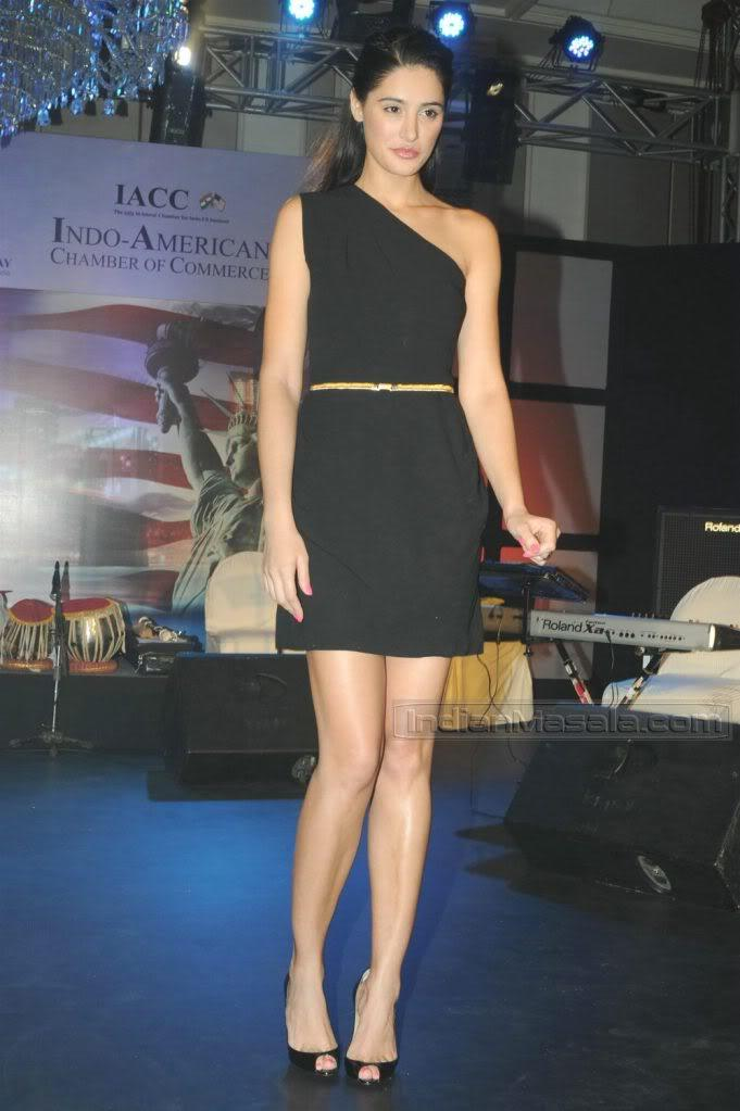 #27 - Nargis Fakhri in a Short, Half-cut Dress