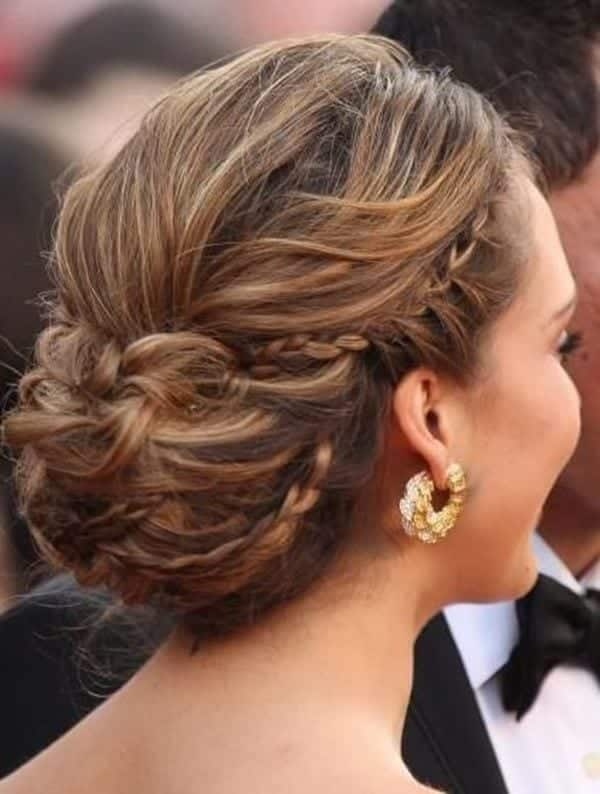 30-Braided-Hair-Updo-for-Long-Hair Hairstyles For Round Face-36 Cute Hairstyles for This Year
