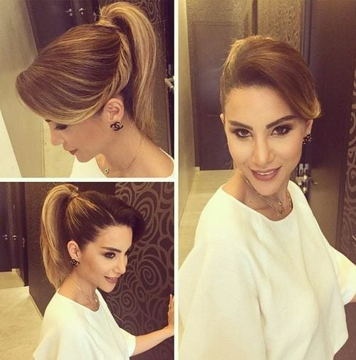 4-twist-into-ponytail-hairstyle 28 Cute Hairstyles for Oval Face Shape Girls These Days
