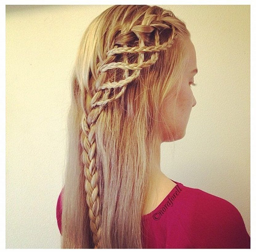 #8 - Numerous Braid Hairdo for Round Faces