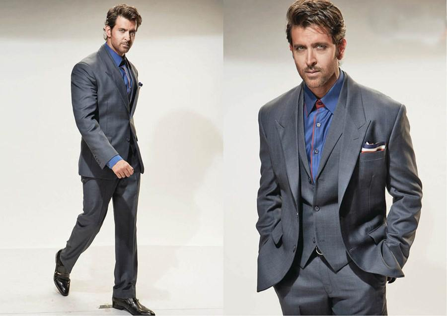 9-A-Grey-Inspired-Suite Hrithik Roshan Outfits-30 Best Dressing Styles of Hrithik Roshan