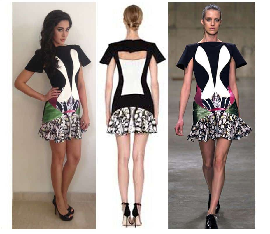 #9 - Nargis Fakhri in an Artistic London Fashion Week Outfit