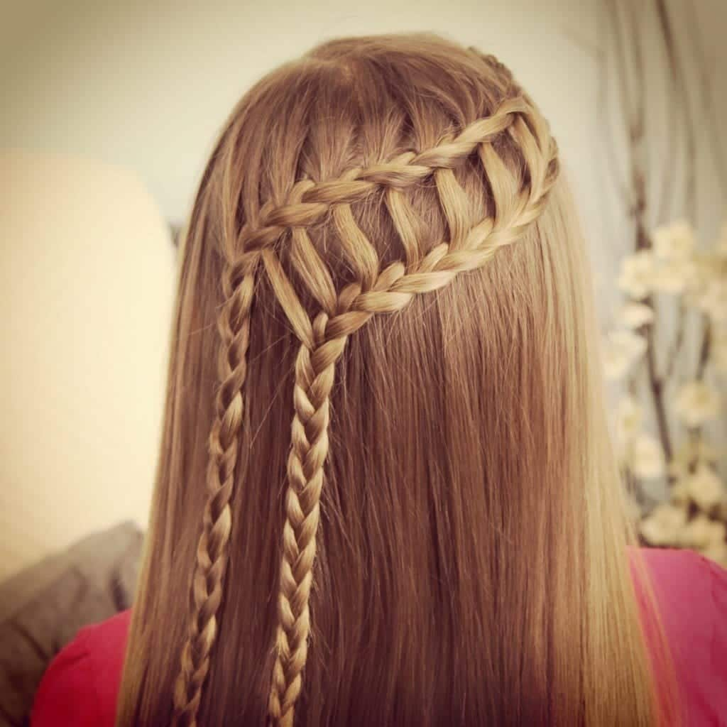 #9 - Stylish Ladder Braided Hairdo