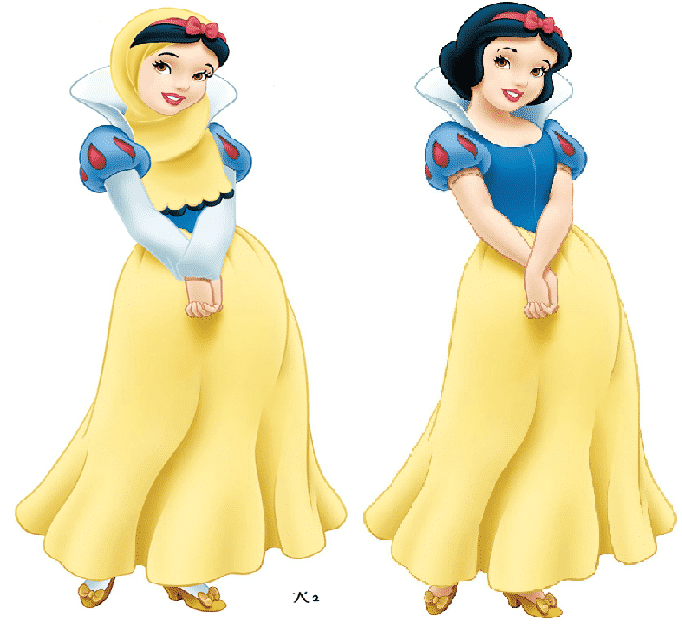 Snow-White Disney Princesses in Hijab-11 Pics of Disney Princesses Muslim Version
