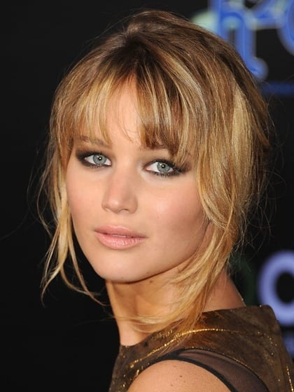 heart-face-shape-hairstyles-jennifer-lawrence 20 Best Hairstyles for Heart Shaped Face Women