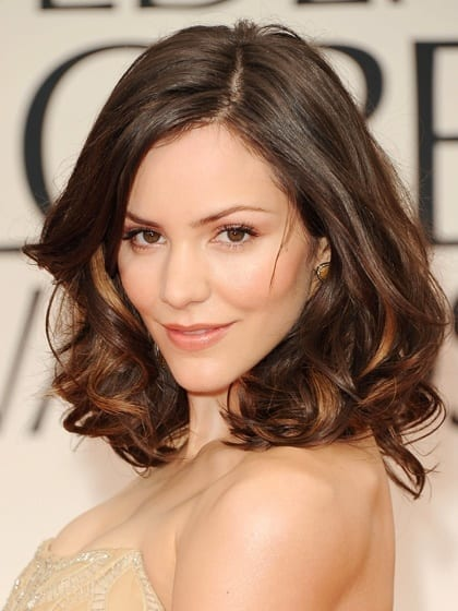 heart-face-shape-hairstyles-katherine-mcphee 20 Best Hairstyles for Heart Shaped Face Women