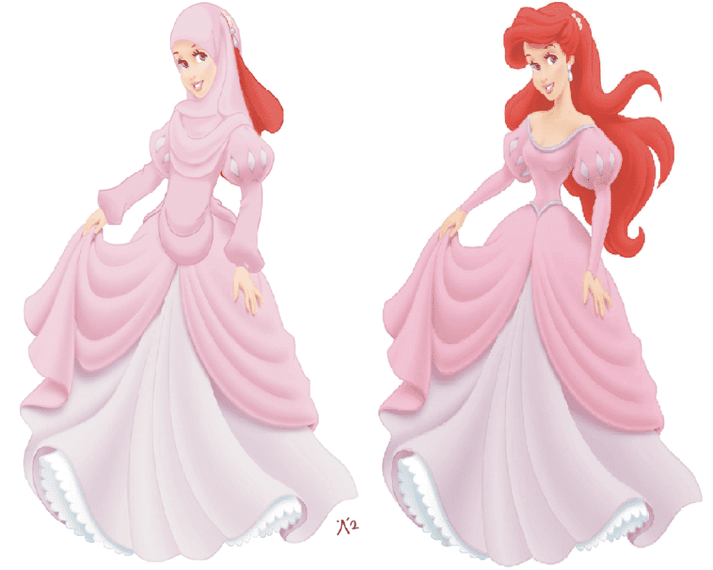 Beautiful Disney Hijabi Princesses (4)