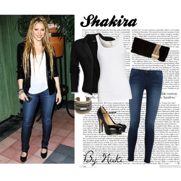10-A-Swagger-Casualty Shakira Outfits - 25 Best Dressing Styles of Shakira to Copy