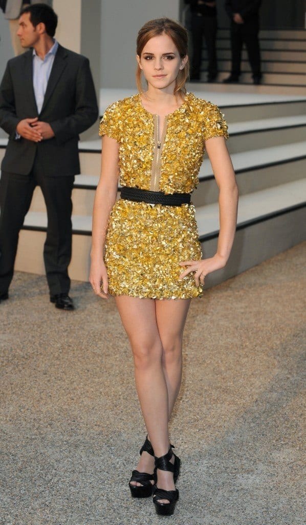 14-An-Eccentrically-Patterned-Dress-598x1024 Emma Watson Outfits - 25 Best Dressing Style of Emma Watson